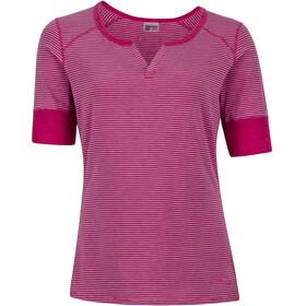 Marmot Cynthia - Camiseta manga corta Mujer - rosa/blanco